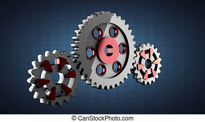 Gear wheels rotate