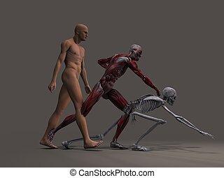 He awaits - Three versions of same figure