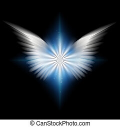 Angel - White wings and radiating light