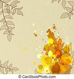 abstract background with branches and blots