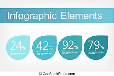 Infographic Elements. - Flat Infographic Elements. Vector...