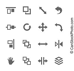 Layout control icons - Simple set of layout related vector...