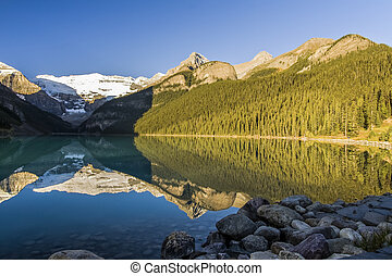 Beautiful Lake Louise in Early Morning