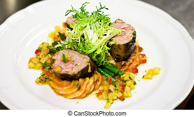 Restaurant Entree Pork Tenderloin