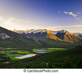 Overlooking Banff and Bow Valley