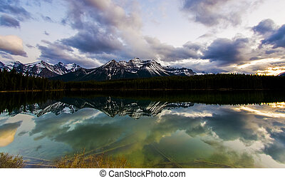 Herbert Lake in Banff
