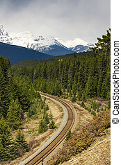 Train Tracks in the Bow Valley Banff