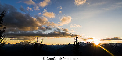 Sunrise View in the Mountains of Banff