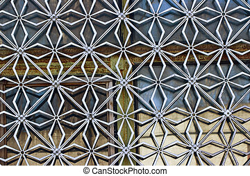 Decorative grille on the window - Metal decorative grill on...
