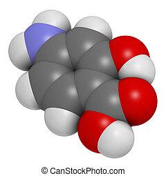 para-aminosalicylic, utilizado, molécula, droga,...