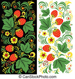vector pattern khokhloma Russian - vector pattern Russian...
