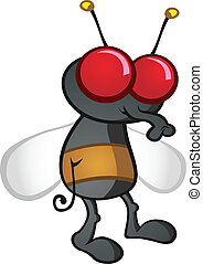 House Fly Cartoon Character - A simple house fly, a...