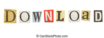 Download, Cutout Newspaper Letters - Download - words...
