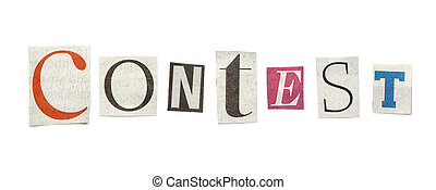 Contest, Cutout Newspaper Letters - Contest - words composed...