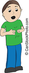 Boy in green shirt signing more in American Sign Language,...