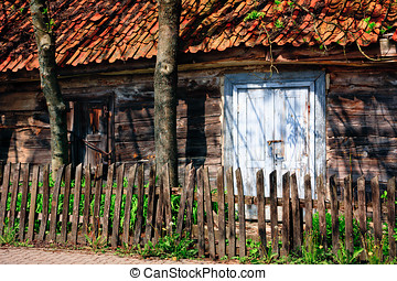 Wooden Ramshackle - Abandoned wooden ramshackle cottage...
