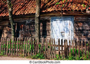 Wooden Ramshackle - Abandoned wooden ramshackle cottage...