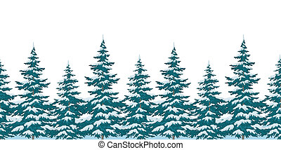 Seamless background, Christmas trees - Seamless background,...