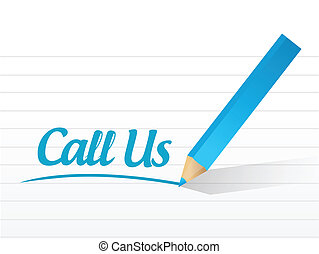 call us message illustration design over a white background
