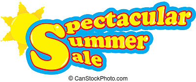 Spectacular summer sale - Yellow spectacular summer sale...