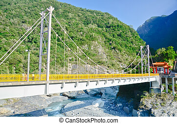 Bridge in the Taroko National Park, Taiwan