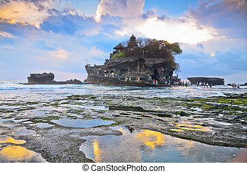 The Tanah Lot Temple, the most important indu temple of...