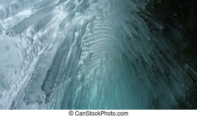 Icicle close up - Ice cave