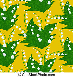 Floral pattern with lily-of-the-valley flowers - Vintage...