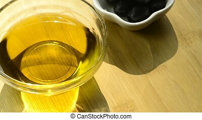 Olive oil with fruits