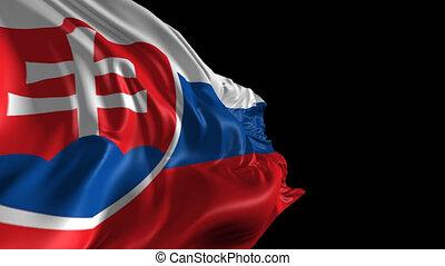 Flag of Slovakia - Beautiful 3d animation of Slovakia flag...