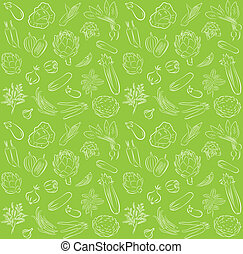 vegetables pattern - vector pattern of seamless background...