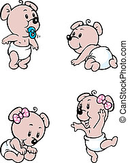 baby bear mascot - Vector illustratin of baby bear mascot in...