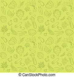 vegetable pattern - vector pattern of seamless background...