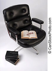 Modernism style black leather executive chair - Charles and...