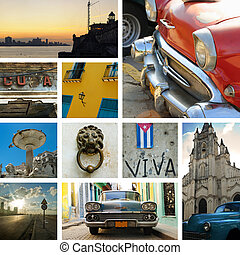 Cuba collage - Cuban stamps - Collage made from 10...