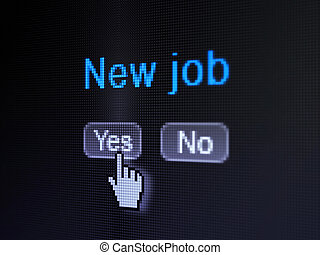 Finance concept: New Job on digital computer screen -...