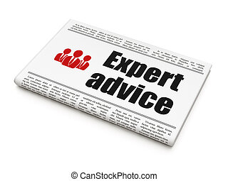 Law concept: newspaper with Expert Advice and Business...