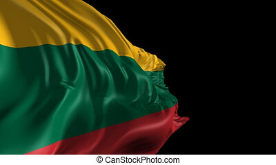 Flag of Lithuania - Beautiful 3d animation of the Lithuania...
