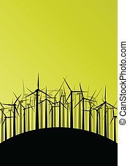 Wind electricity generators and windmills detailed ecology...