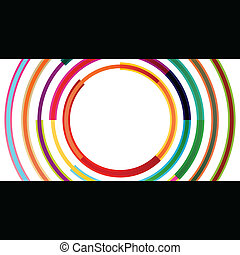 Color circle round ellipse lines waves colorful mosaic...