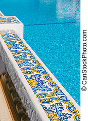 Mediterranean Balustrade in a Swimming Pool