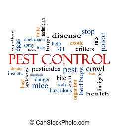 Peste, control, palabra, nube, concepto