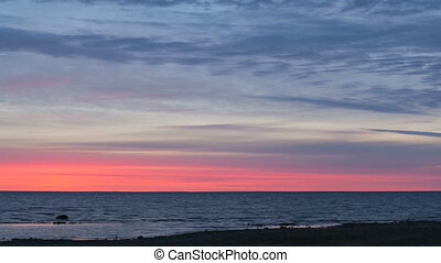Time lapse Blood Red Sunrise - Time lapse of a blood red...