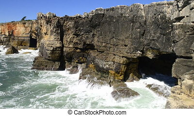 The rocky coastline of Cascais is famous for the cave named,...