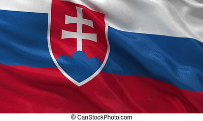 Flag of Slovakia seamless loop