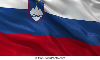 Flag of Slovenia - seamless loop - Flag of Slovenia gently...