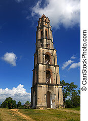 Trinidad tower, cuba - A view of Manaca-Iznaga tower...
