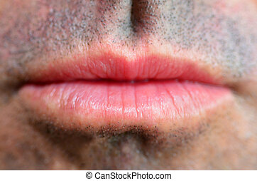 Man lips full frame close up Concept photo of male sexuality...