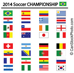soccer championship 2014 - soccer championship flags for the...