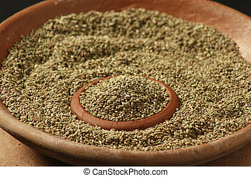 Ajwine or Carom Seeds - Ajwain or Ajowan Caraway botanical...